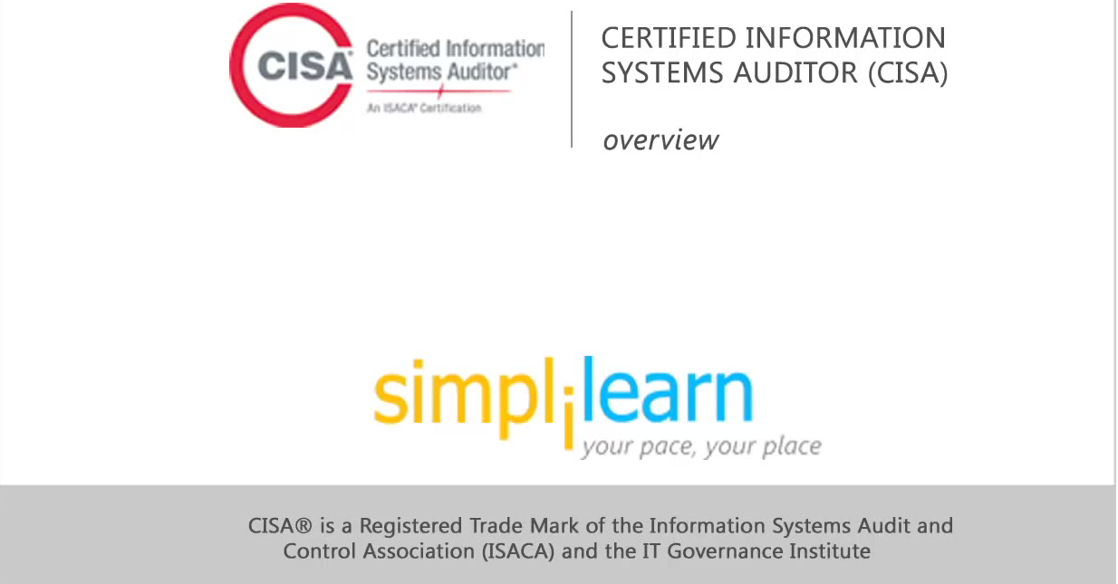 Certified Information Systems Auditor - An Introduction
