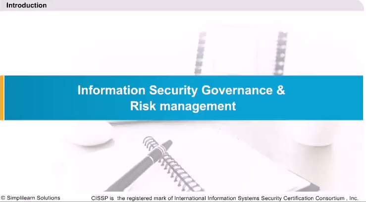 Information Security Governance and Risk Management